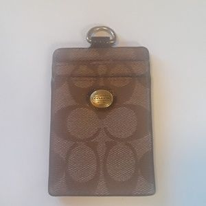Coach card n key holder